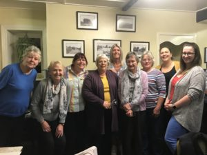 Ladies darts team at The Star Inn, Harbottle, Northumberland