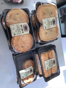 Pies and sausage rolls from Green's Butcher of Longframlington