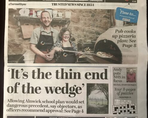 Northumberland Gazette - From a pint to pepperoni