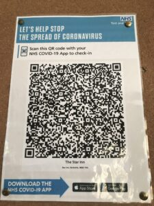 COVID-19 NHS app - The Star Inn, Harbottle, Rothbury, Northumberland